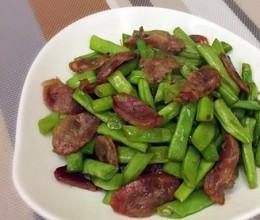 腊肠炒四季豆