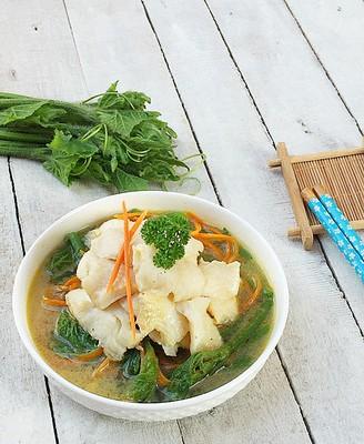 清汤鲽鱼片