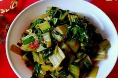 小葱炒青菜