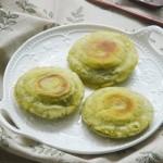 艾草豆沙煎饼