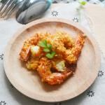 沙拉酱蒜蓉烤虾