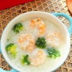 西蓝花虾仁粥