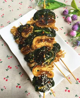 烤韭菜千张卷