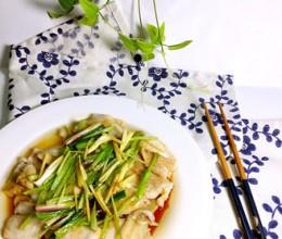清蒸葱油野生蝶鱼片