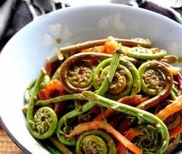 虾干炒蕨菜