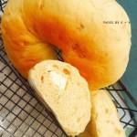 颗颗香浓花生粒入口的南瓜乳酪软欧包