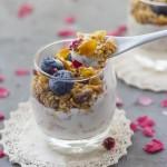 蓝莓麦片酸奶杯