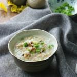 淡菜鸡丝二米粥