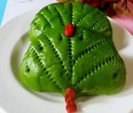 菠菜汁荷叶饼
