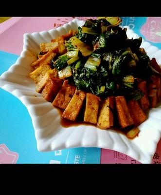 豆豉青菜豆腐块
