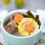 寶寶輔食食譜  玉米海帶排骨湯