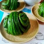 菠菜汁花卷馒头
