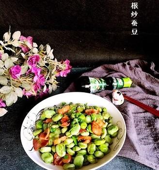 #霸王超市#培根炒蚕豆