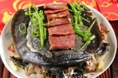 火腿蒸甲鱼