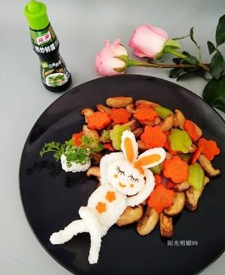 趣味便当小兔子的梦想#鲜香滋味 搞定萌娃
