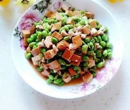 肉丁香干炒毛豆