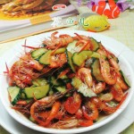 青瓜炒河虾