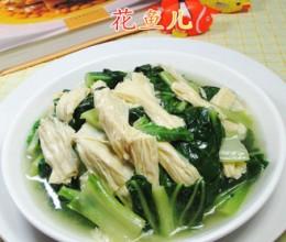 腐竹炒君叠菜