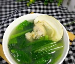 小白菜文蛤汤