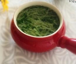 土豆丝芹菜叶汤