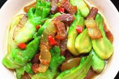 儿菜炒五花腊肉