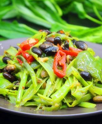 豆豉炒通菜