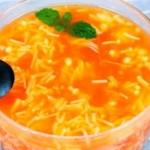 爽口开胃汤—番茄金针菇汤