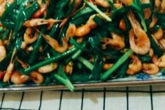 韭菜炒河虾#每日一道减肥餐#