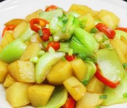 上海青炖土豆