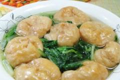 油面筋煮小白菜