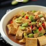 肉末豆米烧豆腐