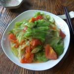 包菜炒西红柿