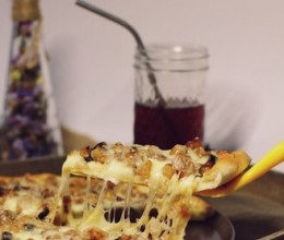 肉桂苹果甜披萨