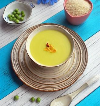 蛋黄豌豆米糊