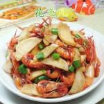 茭白炒河虾