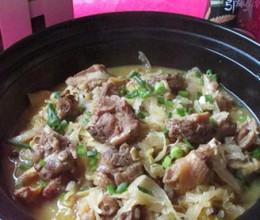 酸菜炖鸭肉