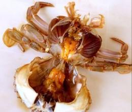 生炝花盖蟹