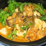 豆腐酸菜炖鸡肉