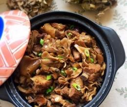 砂锅排骨炖舞茸