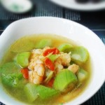 丝瓜虾仁汤