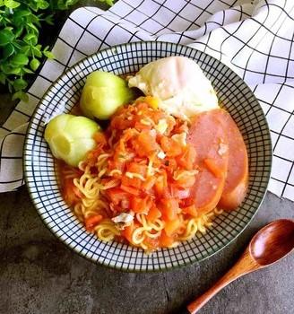 番茄浓汤方便面