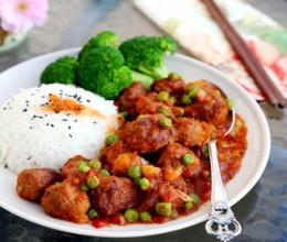 茄汁牛肉丸子烩饭