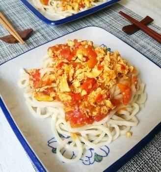 西红柿鸡蛋拌面