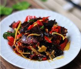 青红椒炒干牛肉