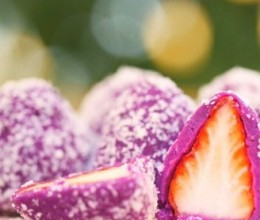 紫薯草莓大福  宝宝辅食食谱