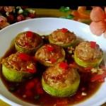 西葫芦酿肉