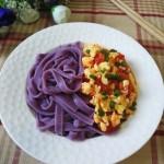 西红柿鸡蛋紫薯面