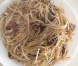 绿豆芽炒粉丝