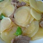 土豆片炒五花肉