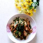 韭菜炒素鸡